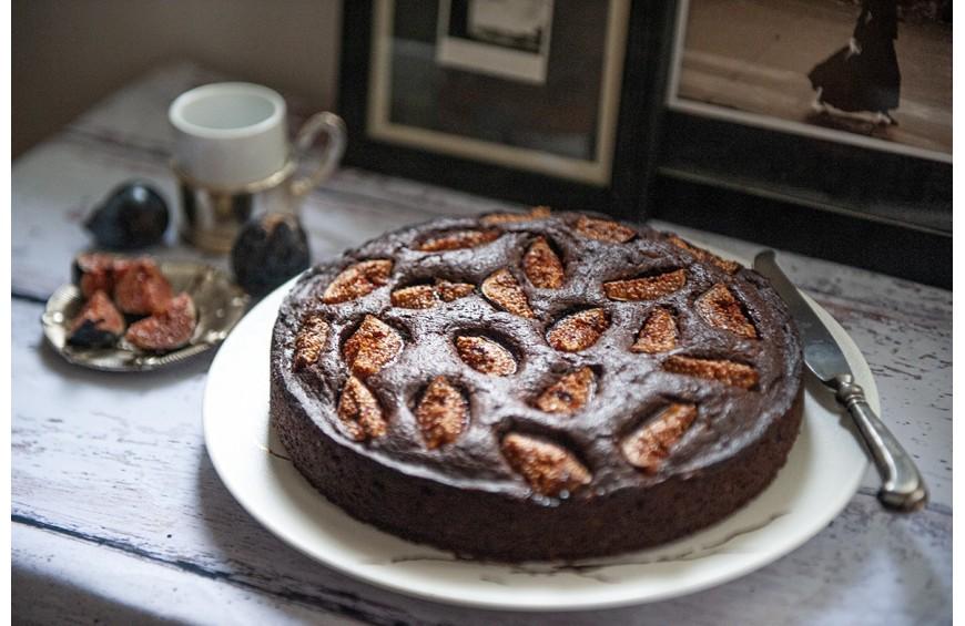 Gâteau au chocolat et figues du moment !