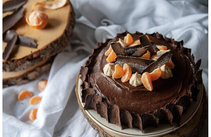 Gâteau Clémentines et chocolat Castelain pour un repas de fête