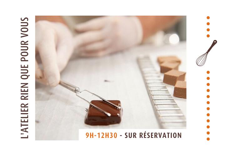 Ateliers privatisé avec le maître chocolatier, cours de fabrication