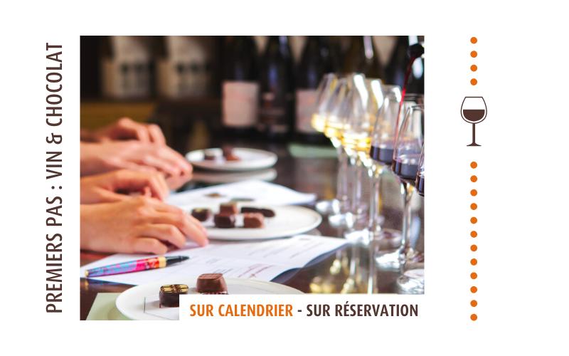 Ateliers vins et chocolats commenté Castelain